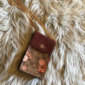 NWT Coach floral chain crossbody handbag